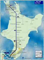 North Island Rail Map