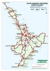 North Island State Highway Map