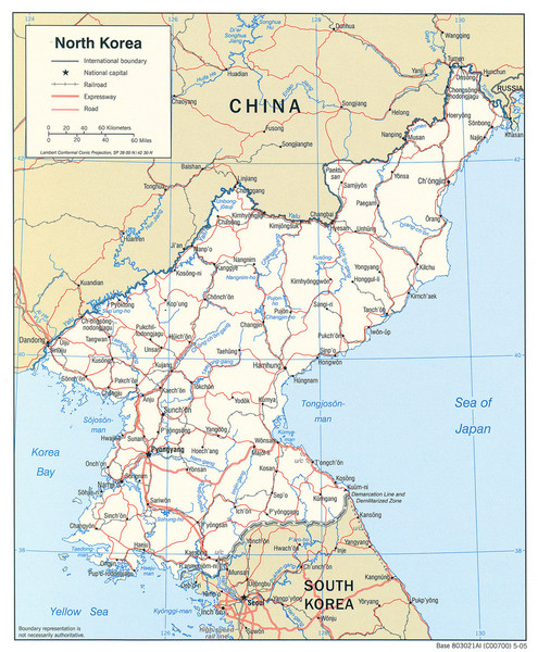 North Korea Tourist Map