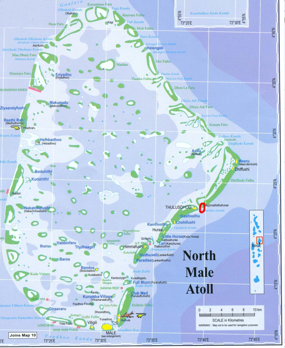 North Male Atoll Map Male Atoll Mappery - male map