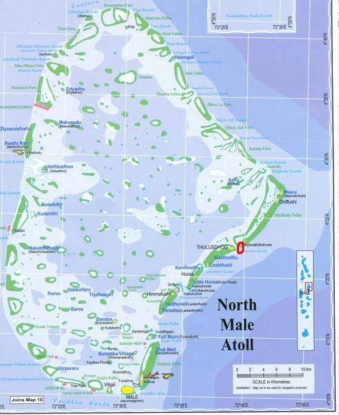 North Male Atoll Map
