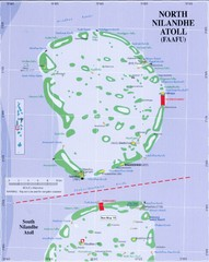 North Nilandu atoll Map