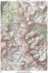 North Palisade South Lake Route Topo Map