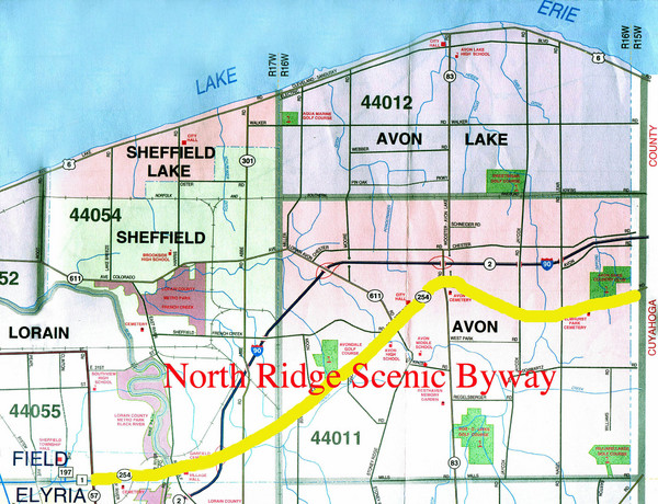 North Ridge  Byway Map