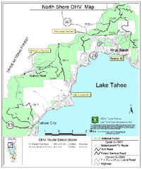 North Shore Lake Tahoe Off-Highway Vehicle Map