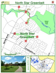 North Star Greenbelt Map