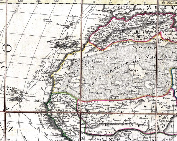 North and West Africa, 1829 Map