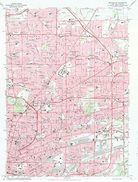 Northeast Buffalo Topo Map
