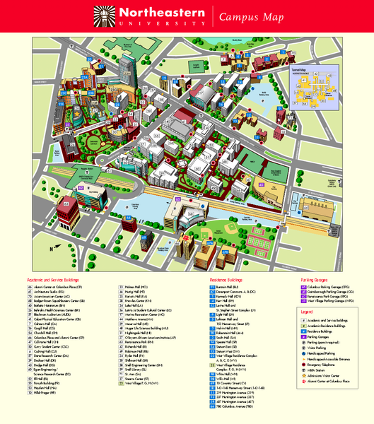 Northeastern University Map Boston Massachusetts mappery – Boston Tourist Map Pdf