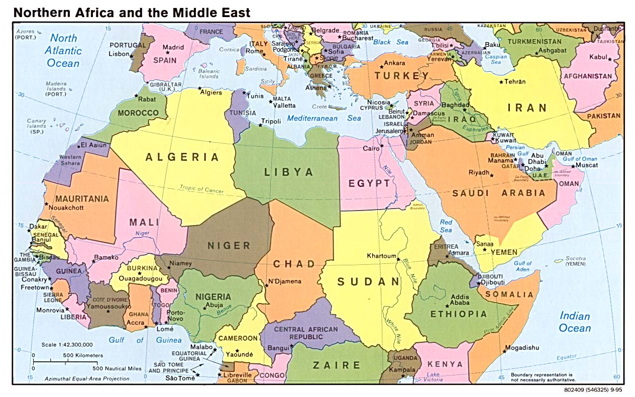 Northern Africa Map  Northern Africa  mappery