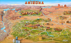 Northern Arizona attractions Map