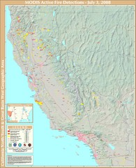 Northern California Fire Detection Map