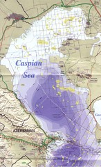 Northern Caspian Sea Map