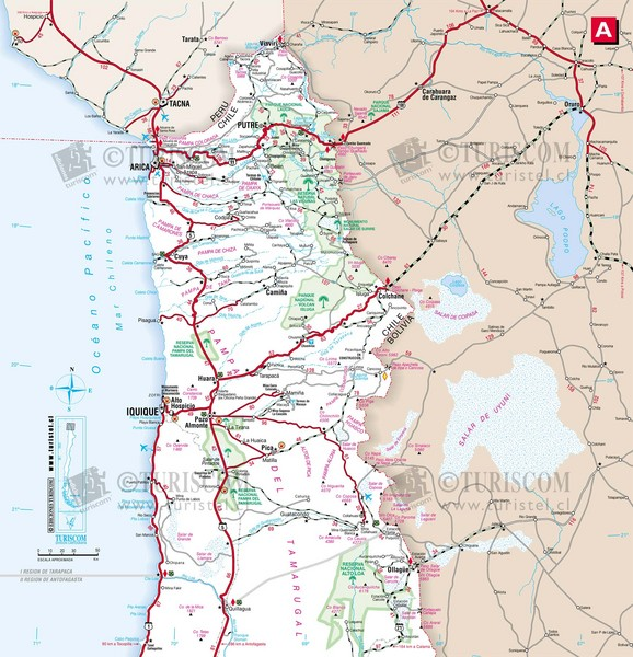 Northern Chile Tourist Map