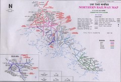 Northern India Rail Map