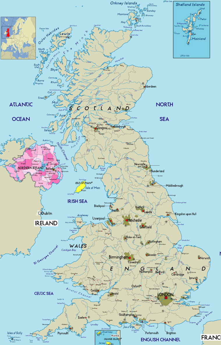 Northern Ireland Political Map Northern Ireland UK Mappery - Ireland political map