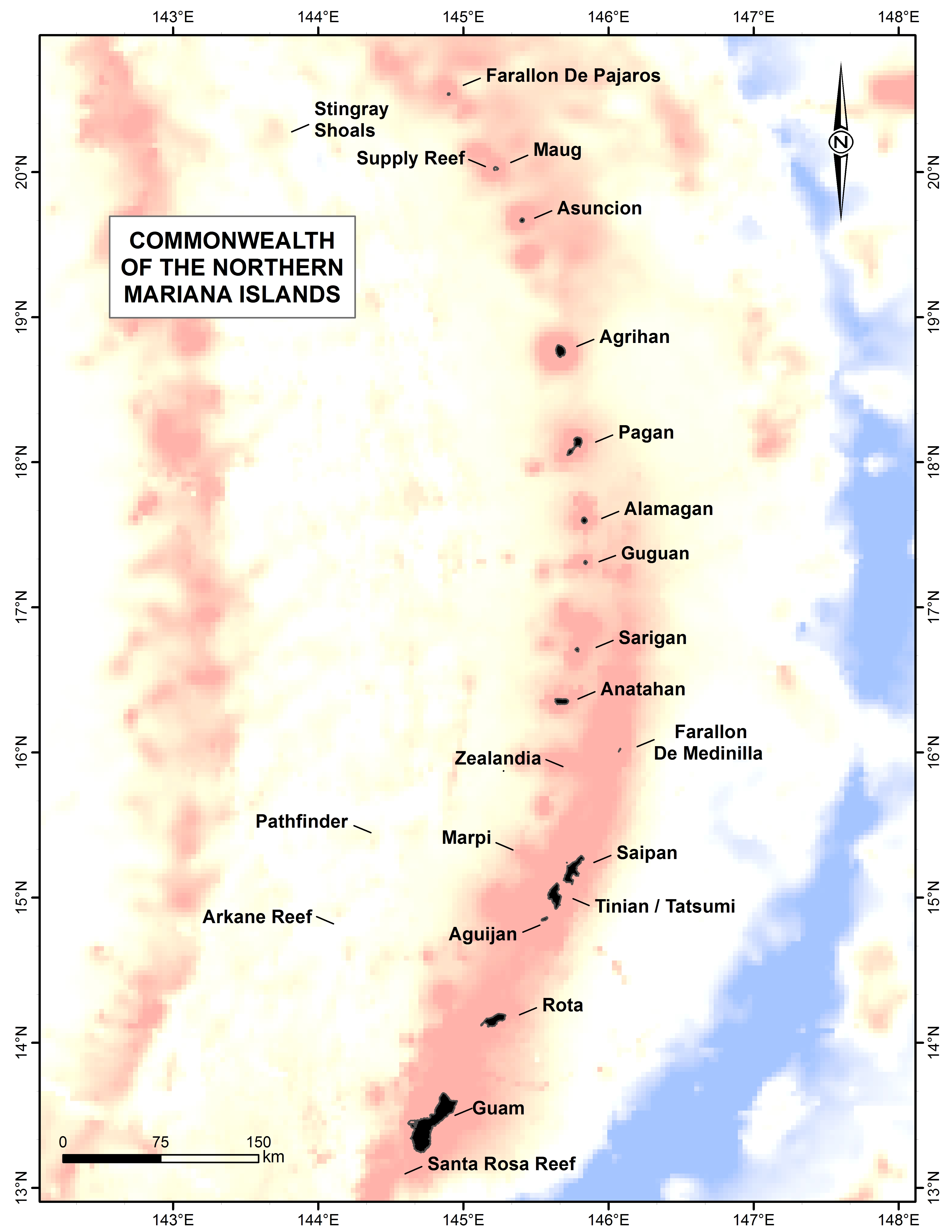 Northern Mariana islands Map - northern marianas • mappery
