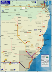 Northern New South Wales Map