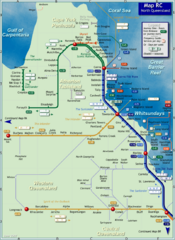 Northern Queensland Rail Map