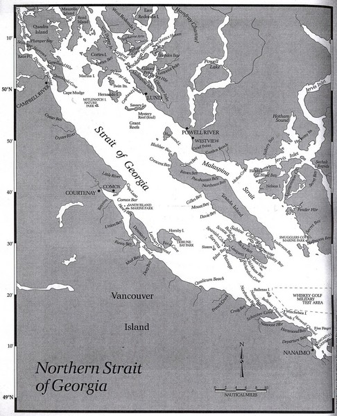 Northern Strait of Georgia Map Strait of Georgia BC mappery