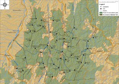 Northern Te Urewera National Park Map