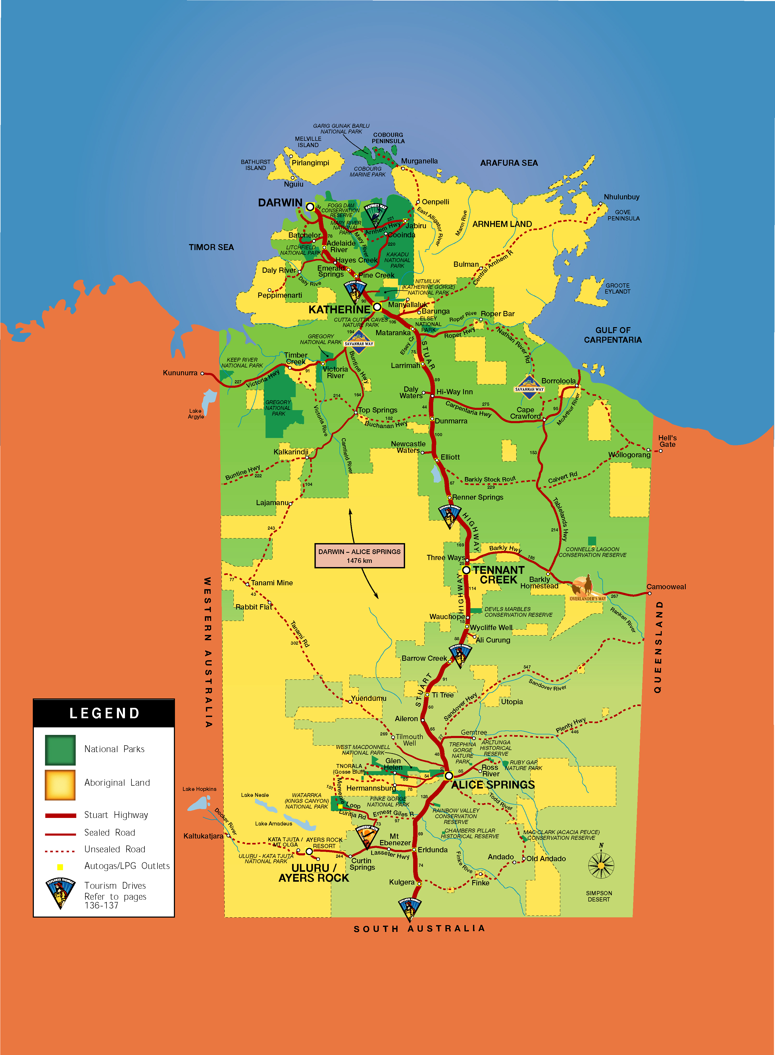Northern Territory Map Northern Territory Australia mappery