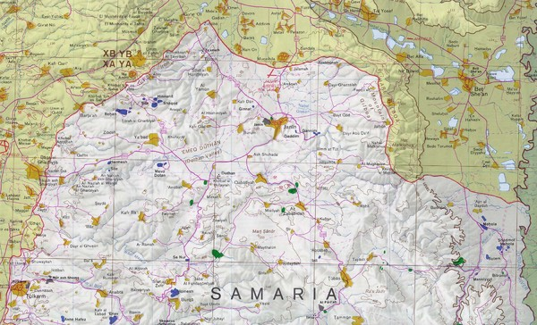 Northern West Bank Map