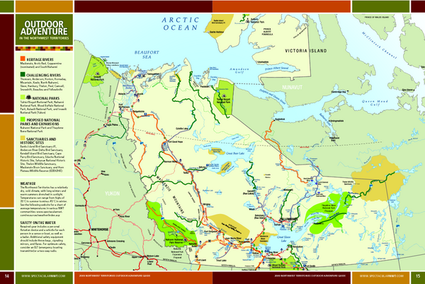 Northwest Territories Outdoor Adventure Map