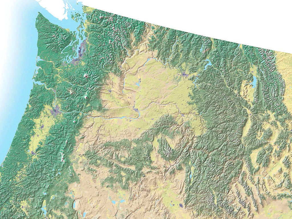 Northwest USA topo Map - idaho • mappery