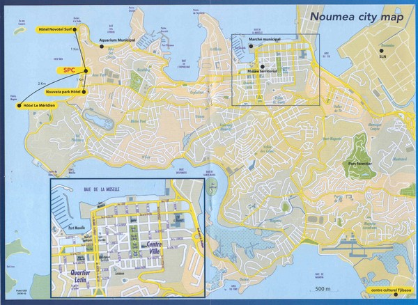 Noumea Tourist Map