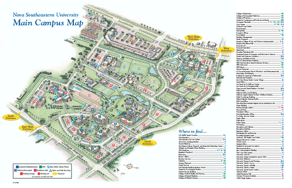 Nova Southeastern University Map Fort LauderdaleDavie Florida