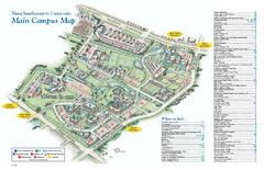 southeastern university map nova southeastern university campus map .