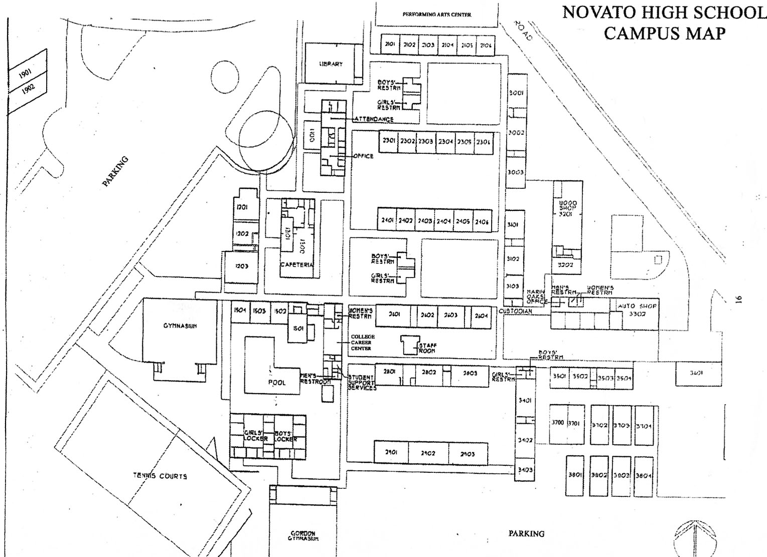 School Campus Map.Novato High School Campus Map Novato High School Novato Ca Mappery
