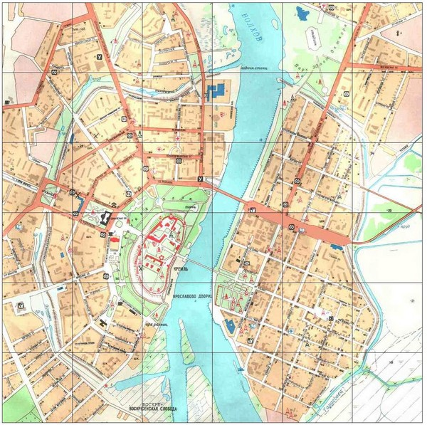 Novgorod City Map