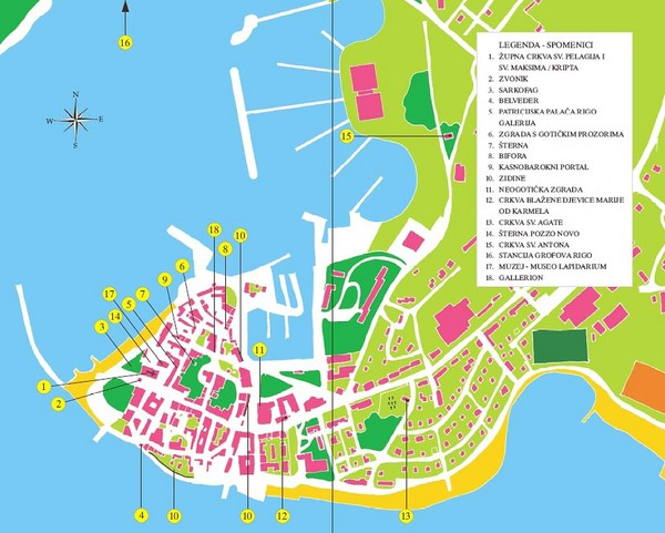 Novigrad Tourist Map