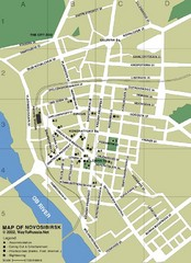 Novosibirsk City Map