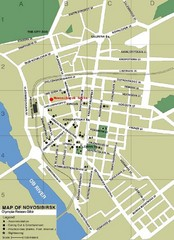 Novosibirsk Tourist Map