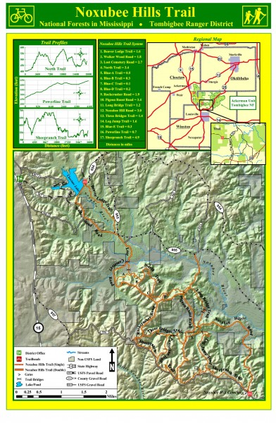 Noxubee Hills Trail Map
