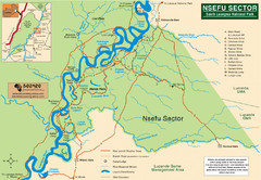 Nsfeu Sector South Luangwa National Park Map