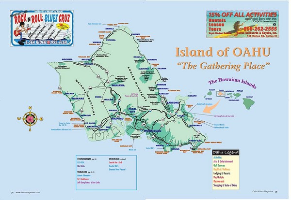 real life map collection mappery – Tourist Attractions Map In Oahu