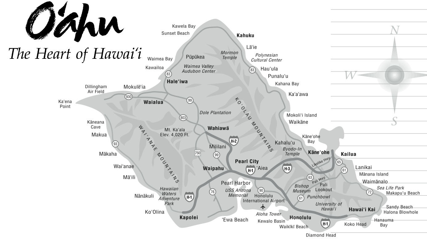 Oahu Hawaii Tourist Map Oahu mappery – Oahu Tourist Map