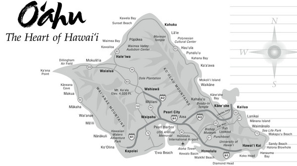 Oahu Hawaii Tourist Map Oahu mappery – Tourist Map Of Oahu