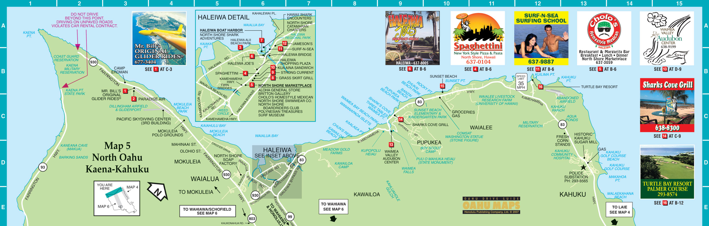Oahu North Shore Tourist Map Oahu Hawaii mappery – Tourist Map Of Maui