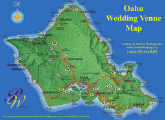 Oahu Wedding Venue Map