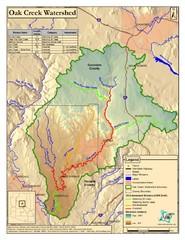 Oak Creek Watershed Map