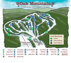 Oak Mountain Ski Center Ski Trail Map