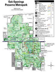 Oak Openings Metropark Map