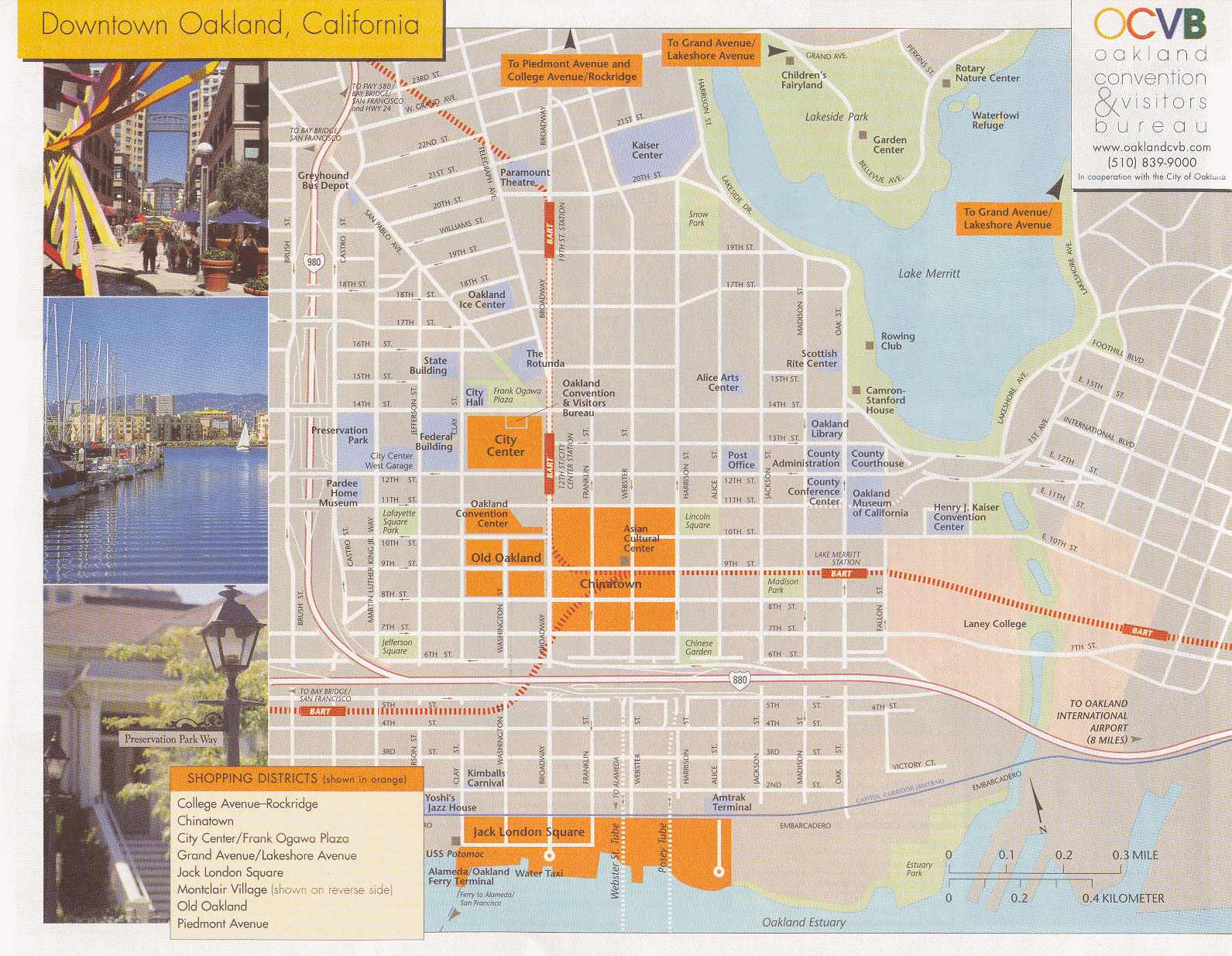 Oakland Tourist Map Oakland California mappery