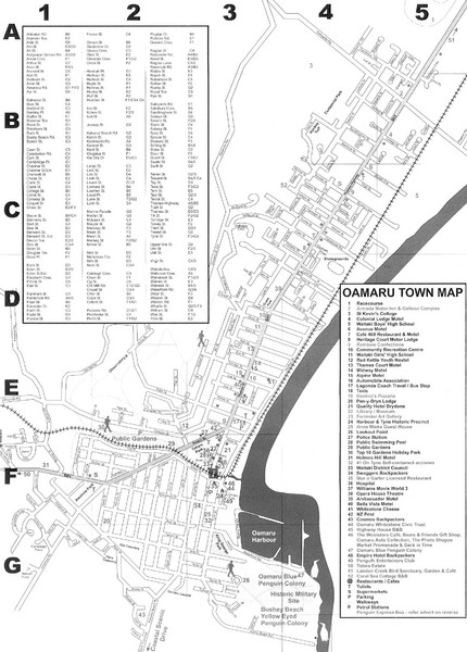 Oamaru Tourist Map