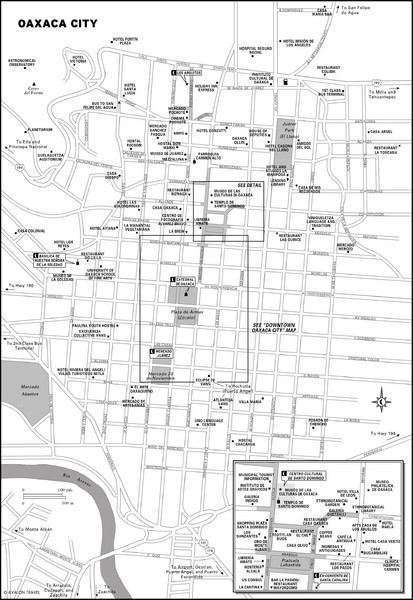Oaxaca City, Mexico City Map